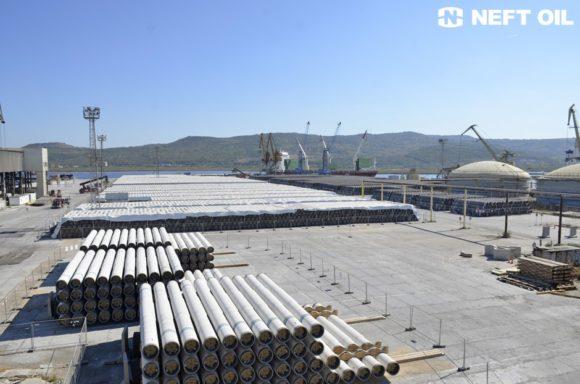тръбна складова площадка в пристанища Варна